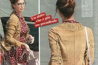 Belen Rodriguez sempre al centro del gossip, il vestito svolazza all'aeroporto