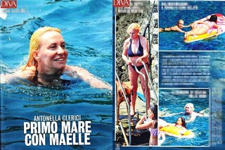 Antonella Clerici al mare con Maelle, relax estivo in famiglia prima di 'Portobello'