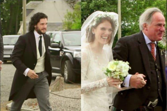 2c942a61ebde Kit Harington e Rose Leslie sposi