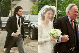 Kit Harington e Rose Leslie sposi, il cast del Trono di Spade alle nozze