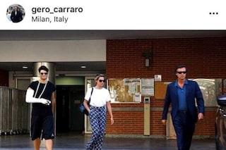 """Gerò Carraro fuori dall'ospedale con Niccolò Bettarini: """"Momento difficile, siamo più uniti"""""""