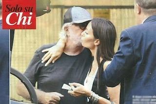 Elisabetta Gregoraci bacia Flavio Briatore, c'è ancora affetto tra i due ex coniugi