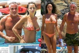 Vacanze bollenti di Raffaella Fico e Alessandro Moggi a Capri, in barca le coccole sono hot