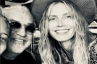 Flavio Briatore e Heidi Klum nella prima foto pubblica con la loro figlia Leni