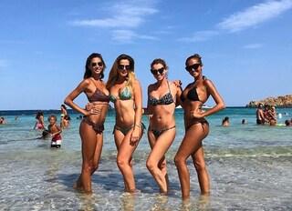 Melissa Satta, Thais Wiggers, Elena Barolo e Giorgia Palmas, riunione di ex Veline in Sardegna