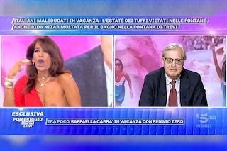 Aida Nizar fuori di seno subito dopo il ritorno in tv, Sgarbi ci prova