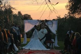 Cristiana Dall'Anna ha sposato Emanuele Scamardella nel giorno del matrimonio dei Ferragnez