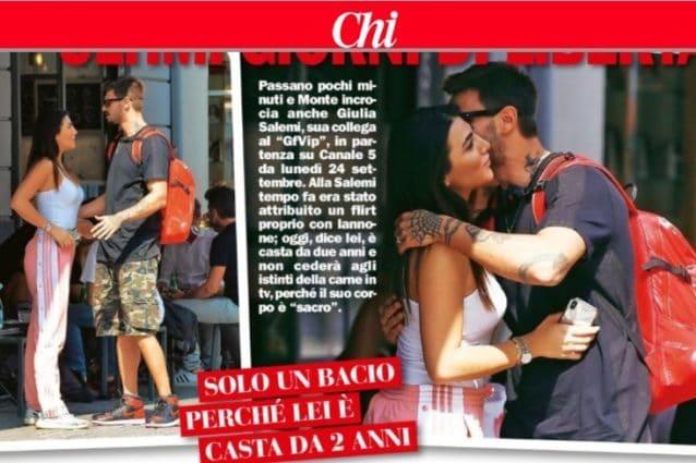 Monte abbraccia l'amica Giulia Salemi
