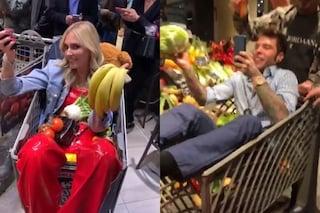 """Festa a sorpresa per Fedez, Chiara Ferragni affitta un supermercato: """"Puoi prendere quello che vuoi"""""""