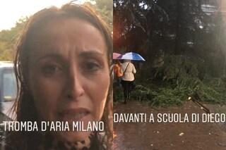 """Un tronco si abbatte sul posto auto di Benedetta Parodi: """"Per fortuna, la macchina non c'era"""""""