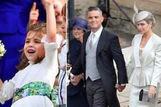 Robbie Williams con Ayda Field e suocera alle nozze di Eugenie, la figlia è la damigella d'onore