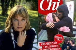 """Asia Argento bacia Fabrizio Corona, la madre di lei: """"Chi è causa del suo mal pianga sé stesso"""""""