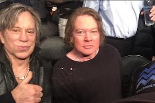 Mickey Rourke e Axl Rose sono irriconoscibili, anche le star invecchiano