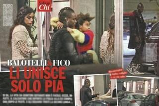 Mario Balotelli riporta la figlia Pia a Raffaella Fico, tra i due ex nemmeno un sorriso