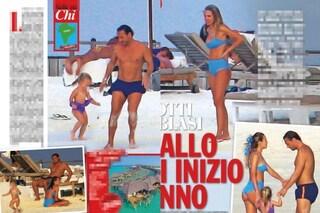 Capodanno alle Maldive per Ilary Blasi e Francesco Totti, il campione balla sulla sabbia con Isabel