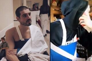 Fabio Colloricchio cade e finisce in ospedale, incidente con gli sci per l'ex tronista