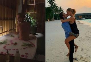Chiara Ferragni nuda in vasca, sfumature hot della luna di miele con Fedez alle Maldive