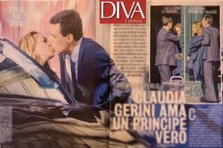 Claudia Gerini con Fabio Borghese, erede di una dinastia di papi ed ex della nipote di Agnelli