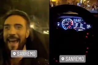 Alex Belli a 111km/h per le strade di Sanremo, sarebbe stato convocato in questura