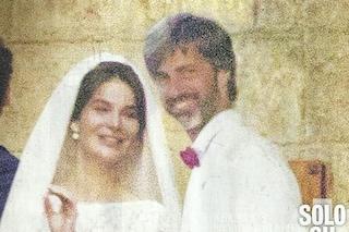Le foto del matrimonio di Kim Rossi Stuart e Ilaria Spada: sposi in bianco, presente Caterina Balivo