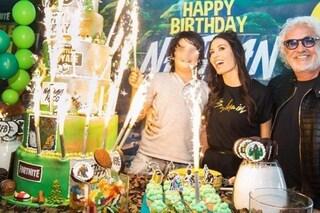 Elisabetta Gregoraci festeggia i 9 anni del figlio Nathan Falco, con lei c'è Flavio Briatore