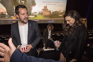 Matteo Salvini romantico, la prima uscita pubblica con Francesca Verdini è all'anteprima di Dumbo
