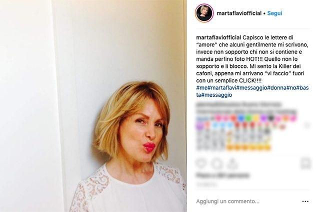 Marta Flavi: Mandano Foto Hot A Marta Flavi, Lei: Sono La Killer Dei