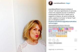 """Mandano foto hot a Marta Flavi, lei: """"Sono la killer dei cafoni, li faccio fuori con un click"""""""