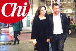 Matteo Salvini con la nuova fidanzata Francesca Verdini, figlia dell'ex senatore Denis Verdini