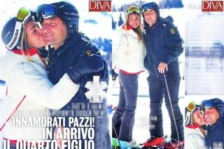 La famiglia Totti in vacanza, i baci di Ilary Blasi sciolgono Francesco e anche la neve