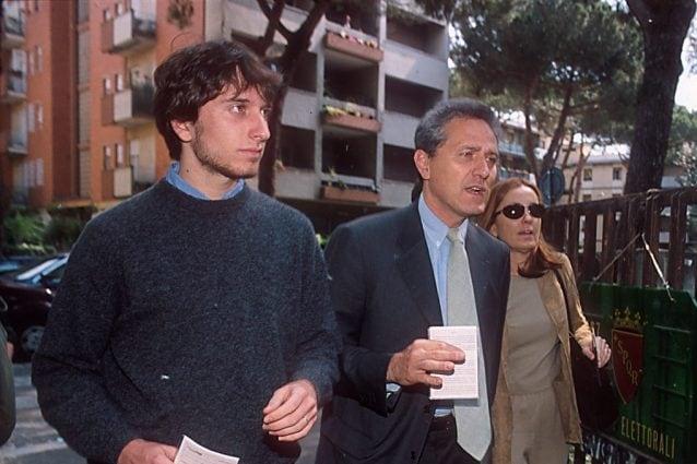 Francesco Rutelli e Barbara Palombelli con il figlio Giorgio