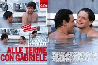 Gabriel Garko e Gabriele Rossi alle terme di Saturnia, prosegue l'amicizia tra i divi della fiction