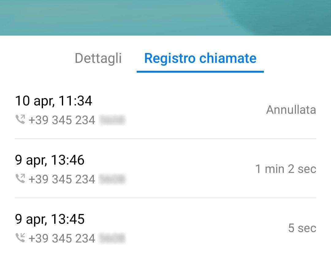 Il registro chiamate dimostra che la telefonata dell'avvocato Donato arriva proprio dal numero che risulta in uso a Pamela Perricciolo.