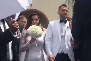 Alessia Macari ha sposato Oliver Kragl, nozze a Foggia per la Ciociara e il calciatore