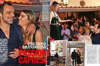 Alessandro Preziosi a Capri con Bianca Brandolini D'Adda, finiscono la serata nello stesso hotel