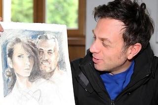 Il ritratto di Mark Caltagirone con Pamela Prati: ma lui è in realtà un avvocato di Cagliari