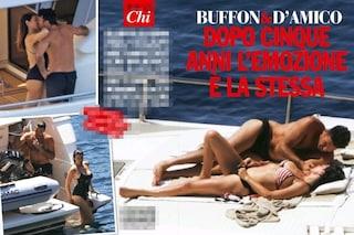 Passione in barca per Gigi Buffon e la D'Amico, la pancia piatta di Ilaria smentisce la gravidanza