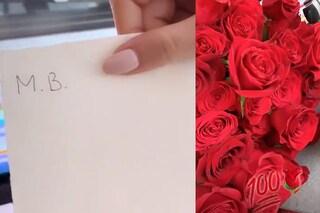 """Rose rosse per Diletta Leotta da uno sconosciuto che si firma """"M.B."""": è Mario Balotelli?"""