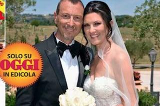 """Amadeus e Giovanna Civitillo sposi, le foto del matrimonio: """"Non siamo una famiglia allargata"""""""