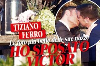 Tiziano Ferro e Victor Allen sposi: la foto del bacio che li ha uniti in matrimonio
