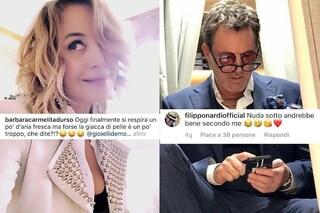 """Filippo Nardi e la battuta a Barbara D'Urso: """"Troppo la giacca di pelle?"""", lui: """"Nuda sotto va bene"""""""