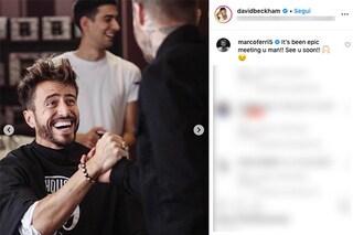"""David Beckham condivide una foto con Marco Ferri, l'ex Isolano: """"Incontro epico, ci vediamo presto"""""""