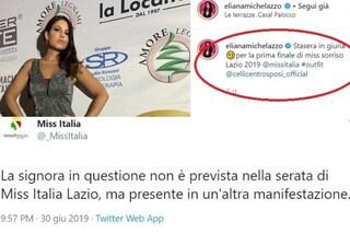 """Eliana Michelazzo: """"Sono in giuria a Miss Italia Lazio"""", il concorso la smentisce"""