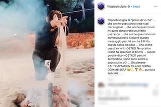"""Filippo Bisciglia spegne un falò e accende i ringraziamenti: """"Temptation Island ha spaccato"""""""