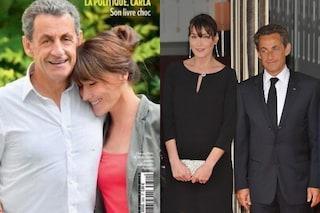 """""""Lei è in ginocchio"""": la foto in cui Nicolas Sarkozy è più alto di Carla Bruni scatena l'ironia"""