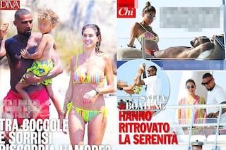 Melissa Satta e Kevin Boateng complici alle Baleari con Maddox, l'intesa è stata ritrovata
