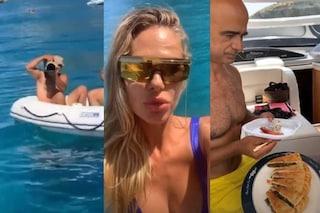 Ilary Blasi scopre il paparazzo, ma lo soccorre sullo yacht e gli offre il sushi