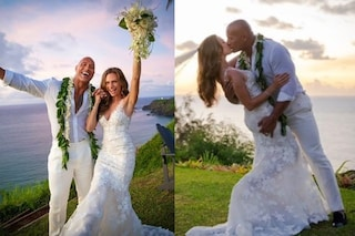 Dwayne Johnson si è sposato, The Rock ha detto sì a Lauren Hashian alle Hawaii