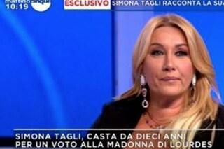 """Simona Tagli confessa: """"Ho fatto un voto alla Madonna di Lourdes, sono casta da dieci anni"""""""