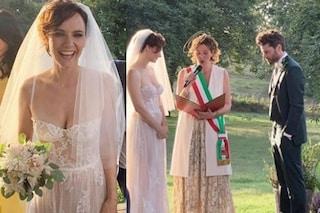 Camilla Filippi sposa Stefano Lodovichi, alle nozze dell'attrice Giulia Michelini e Andrea Delogu